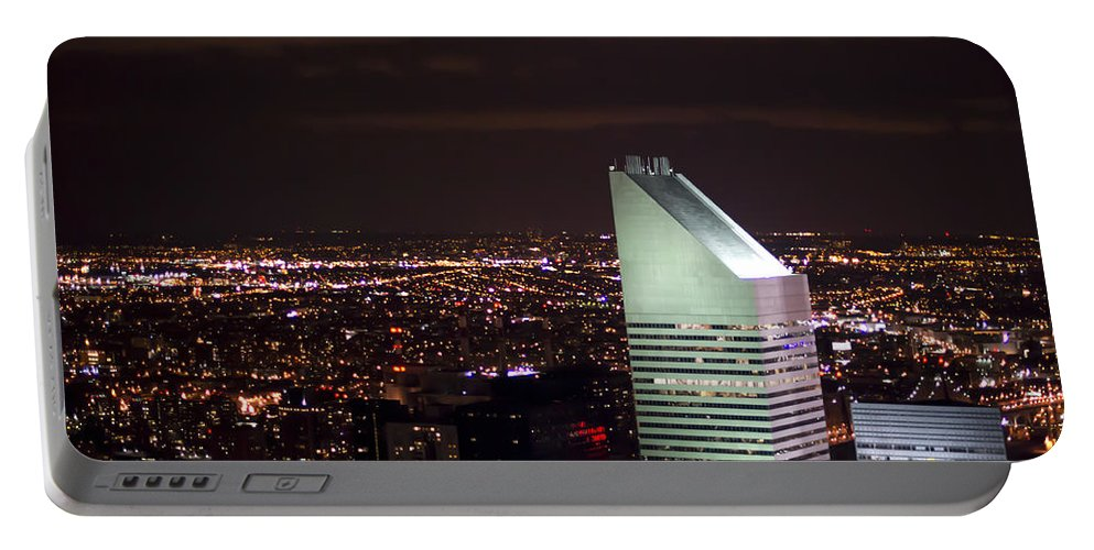 Citicorp Portable Battery Charger featuring the photograph Night View by Theodore Jones