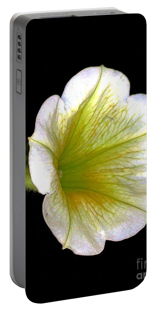 Flowers Portable Battery Charger featuring the digital art Petunia by Dale  Ford