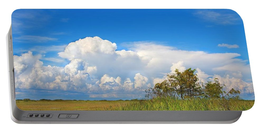 Tamiami Portable Battery Charger featuring the photograph Shark River Slough - 1 by Rudy Umans