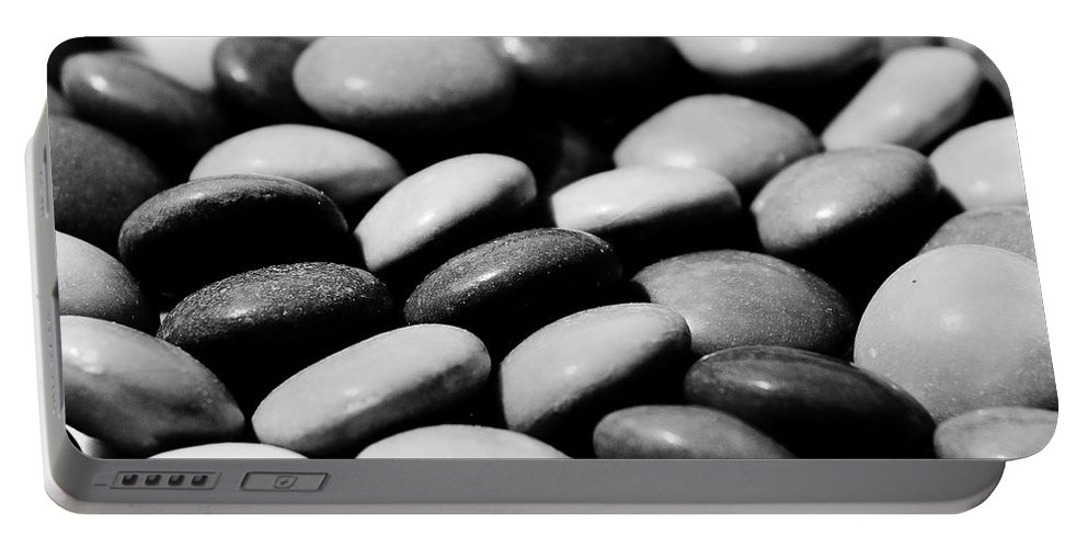Smarties Portable Battery Charger featuring the digital art Sweet Abstract by David Pyatt