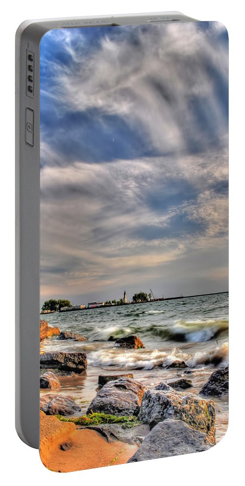 Portable Battery Charger featuring the photograph 001 In Harmony With Nature Series by Michael Frank Jr