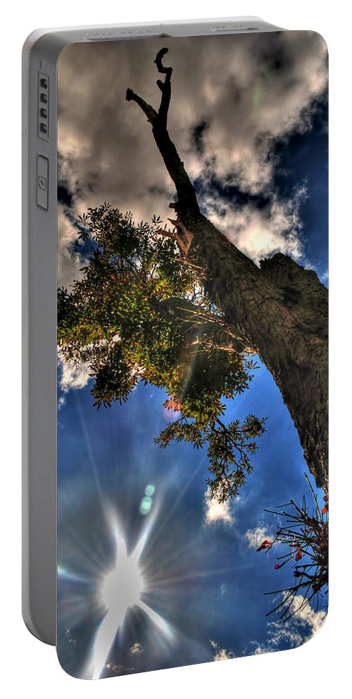 Portable Battery Charger featuring the photograph 001 Reaching For The Sky by Michael Frank Jr
