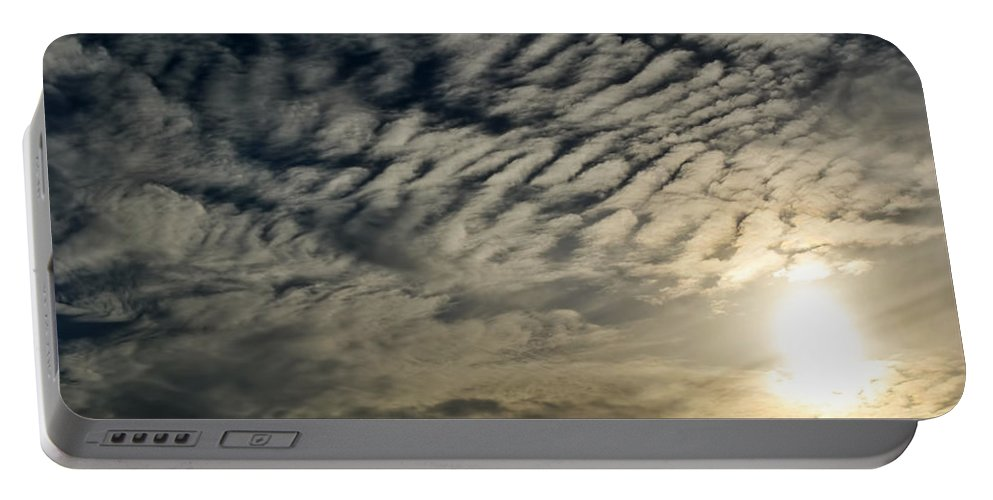 Portable Battery Charger featuring the photograph 001 When Feeling Down Pick Your Head Up To The Skies Series by Michael Frank Jr