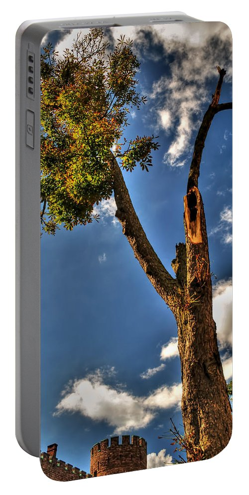 Portable Battery Charger featuring the photograph 002 The 74th Regimental Armory In Buffalo New York by Michael Frank Jr