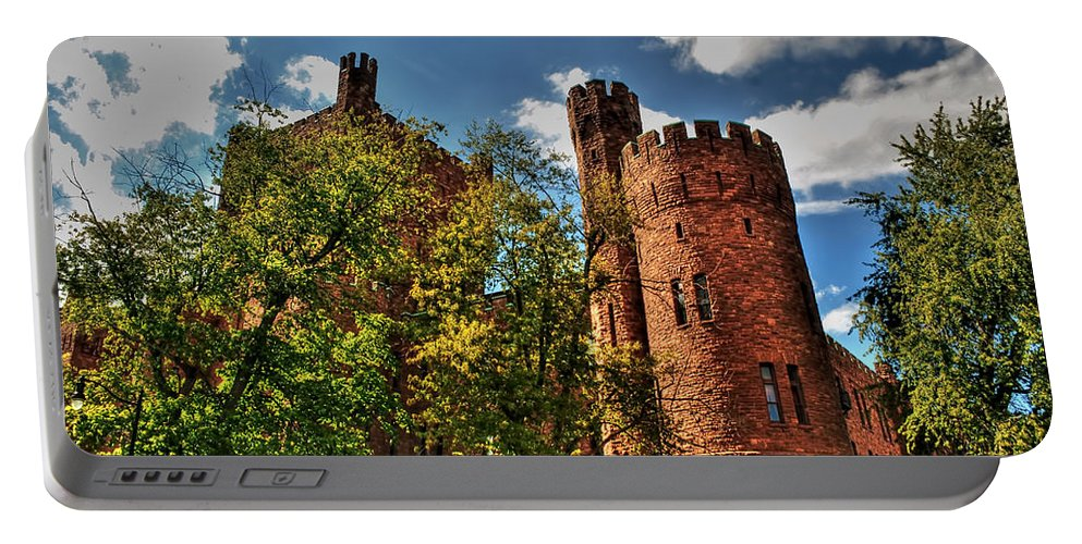 Portable Battery Charger featuring the photograph 003 The 74th Regimental Armory In Buffalo New York by Michael Frank Jr