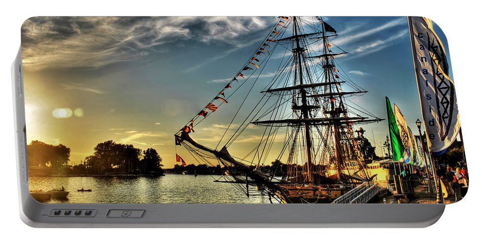 Portable Battery Charger featuring the photograph 005 Uss Niagara 1813 Series by Michael Frank Jr