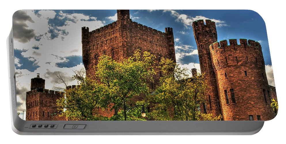 Portable Battery Charger featuring the photograph 007 The 74th Regimental Armory In Buffalo New York by Michael Frank Jr