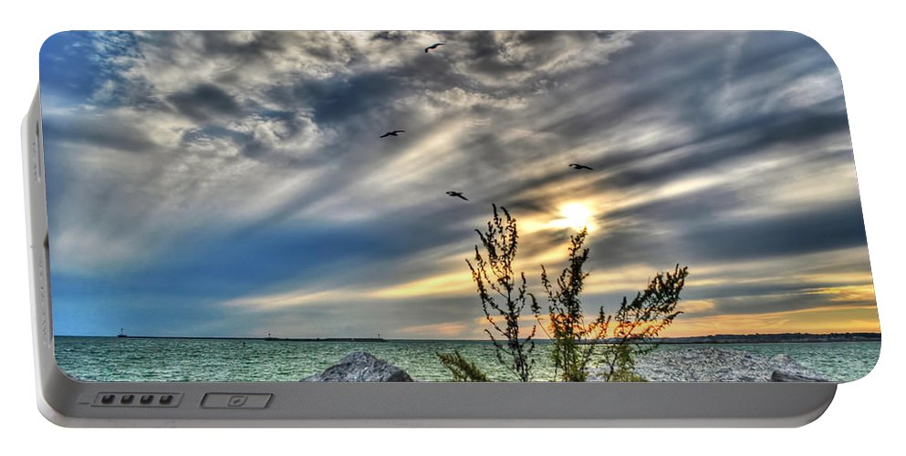 Portable Battery Charger featuring the photograph 008 In Harmony With Nature Series by Michael Frank Jr
