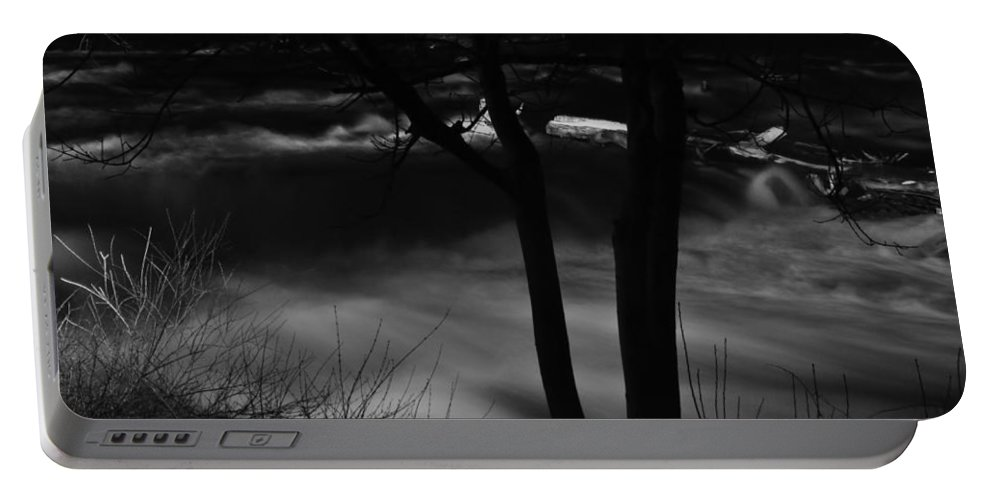 Portable Battery Charger featuring the photograph 01 Niagara Falls Usa Rapids Series by Michael Frank Jr