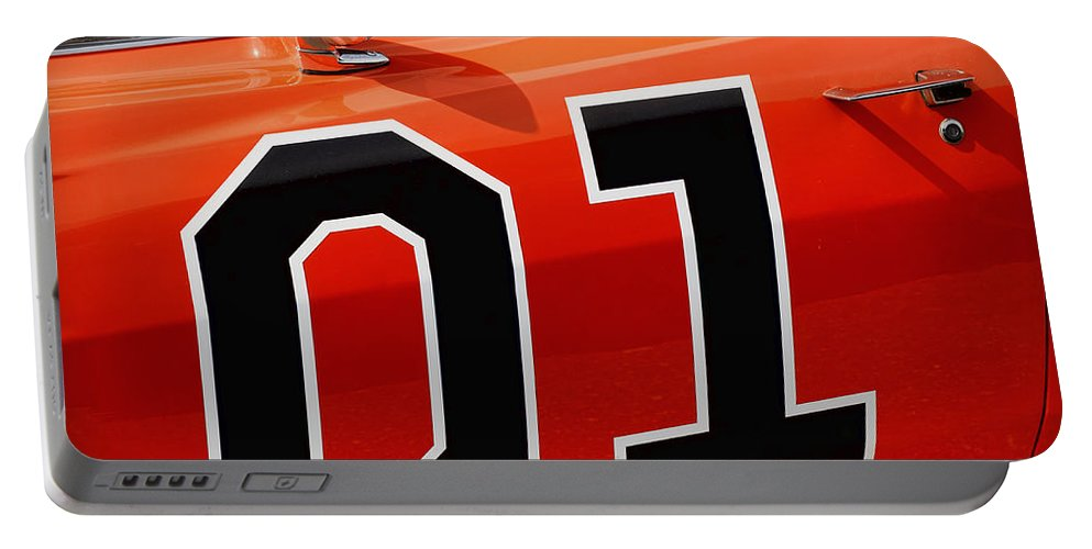01 Portable Battery Charger featuring the photograph 01 - The General Lee 1969 Dodge Charger by Gordon Dean II