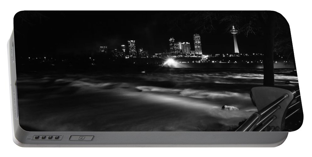 Portable Battery Charger featuring the photograph 010 Niagara Falls Usa Rapids Series by Michael Frank Jr