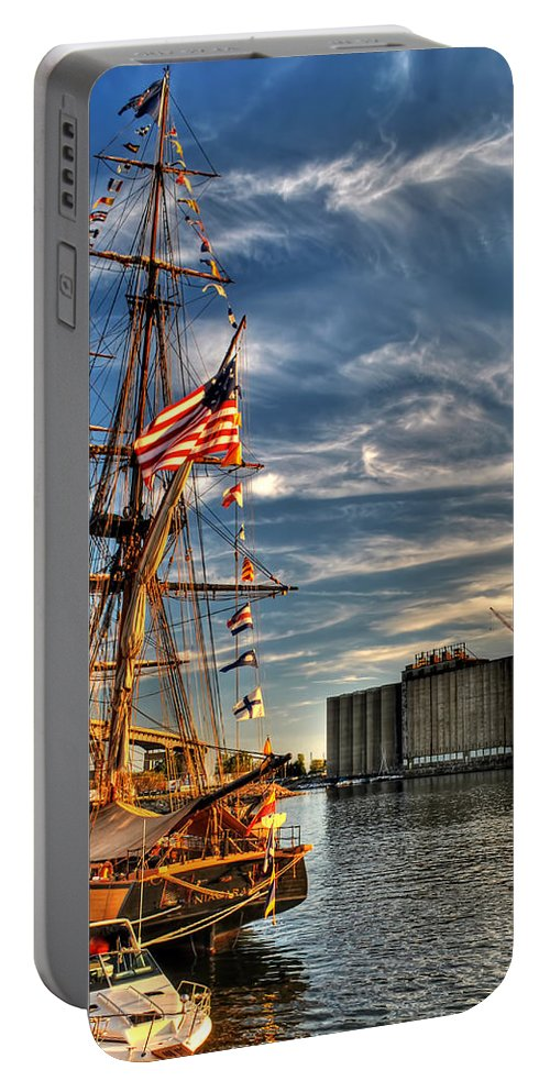 Portable Battery Charger featuring the photograph 012 Uss Niagara 1813 Series by Michael Frank Jr