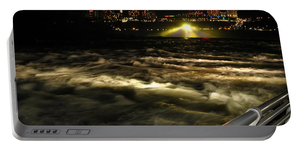 Portable Battery Charger featuring the photograph 013 Niagara Falls Usa Rapids Series by Michael Frank Jr