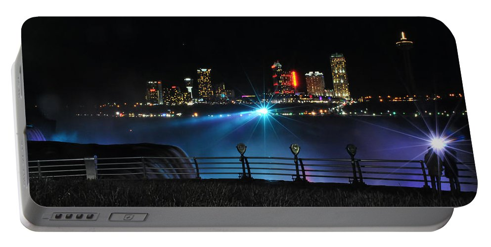 Portable Battery Charger featuring the photograph 013 Niagara Falls Usa Series by Michael Frank Jr