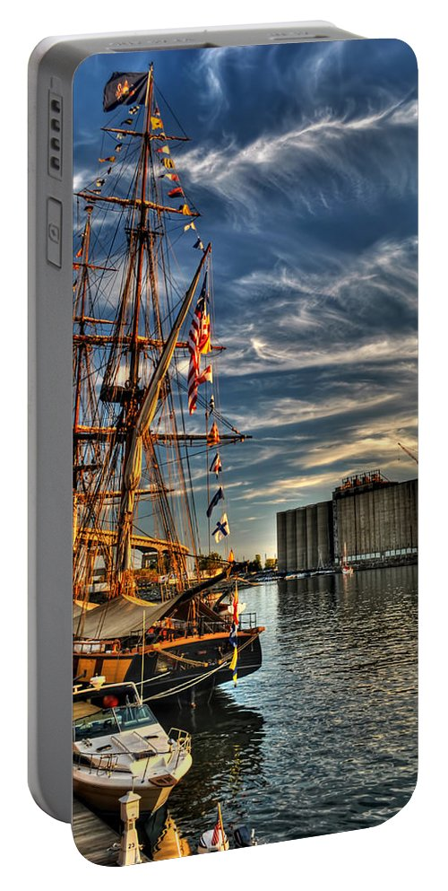 Portable Battery Charger featuring the photograph 013 Uss Niagara 1813 Series by Michael Frank Jr