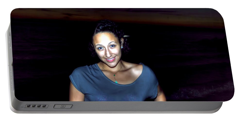 Portable Battery Charger featuring the photograph 014 A Sunset With Eyes That Smile Soothing Sounds Of Waves For Miles Portrait Series by Michael Frank Jr