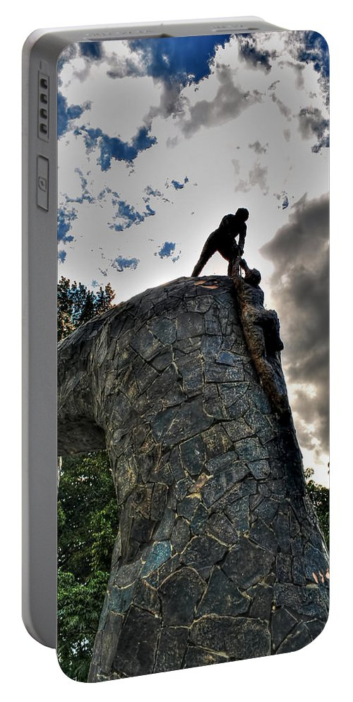 Portable Battery Charger featuring the photograph 02 I'll Never Let Go by Michael Frank Jr