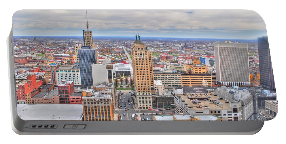 Portable Battery Charger featuring the photograph 02 Series Of Buffalo Ny Via Birds Eye East Side by Michael Frank Jr