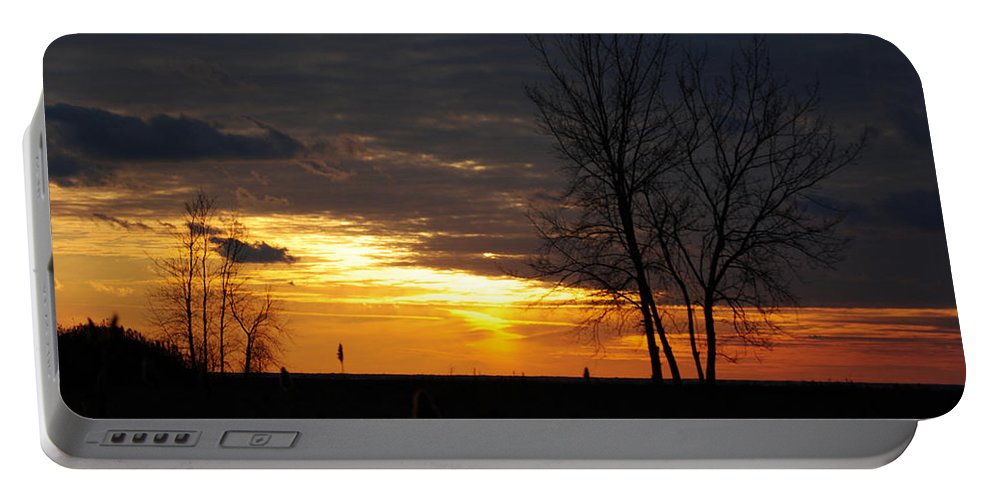 Portable Battery Charger featuring the photograph 02 Sunset by Michael Frank Jr