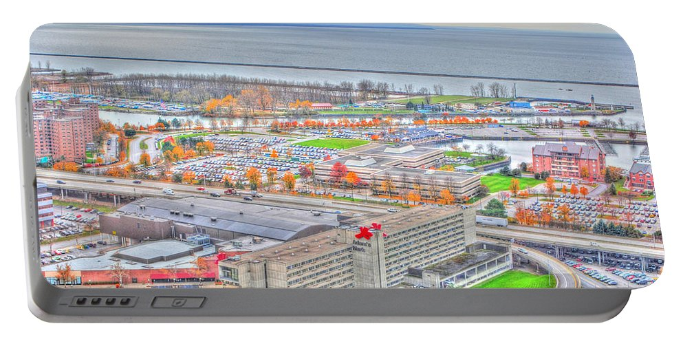 Portable Battery Charger featuring the photograph 020 Series Of Buffalo Ny Via Birds Eye Adams Mark by Michael Frank Jr