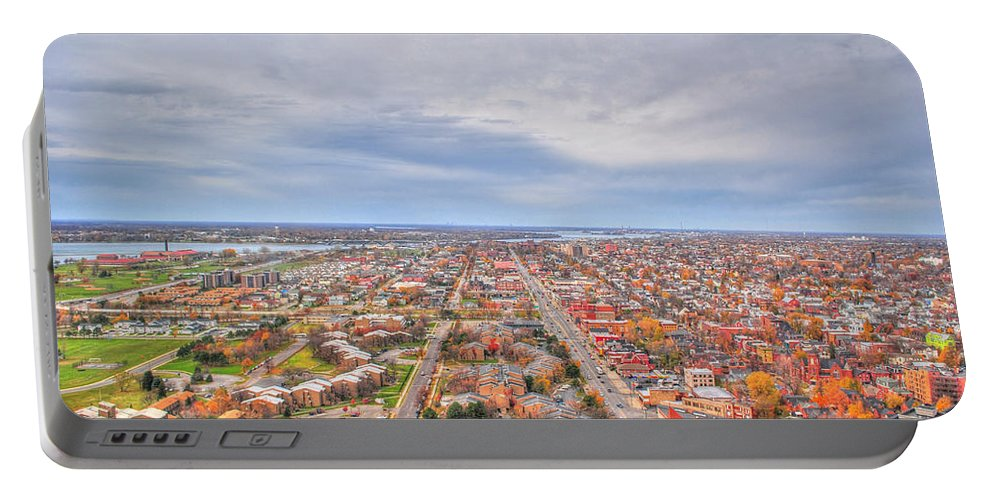 Portable Battery Charger featuring the photograph 040 Series Of Buffalo Ny Via Birds Eye West Side by Michael Frank Jr
