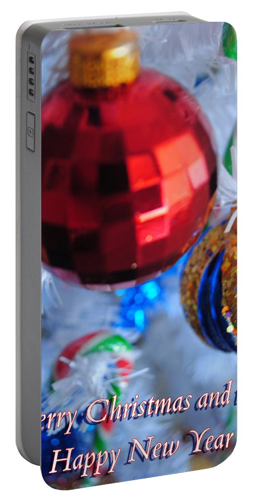 Portable Battery Charger featuring the photograph 05 Christmas Card by Michael Frank Jr