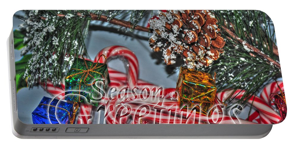 Portable Battery Charger featuring the photograph 06 Christmas Cards by Michael Frank Jr