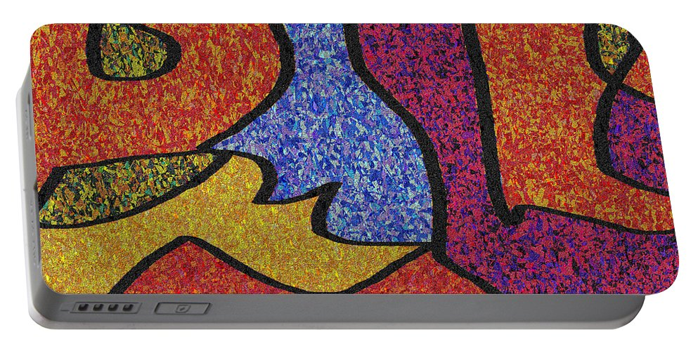 Abstract Portable Battery Charger featuring the digital art 0664 Abstract Thought by Chowdary V Arikatla