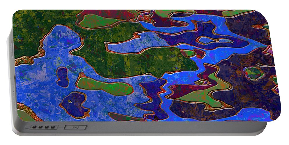 Abstract Portable Battery Charger featuring the digital art 0681 Abstract Thought by Chowdary V Arikatla