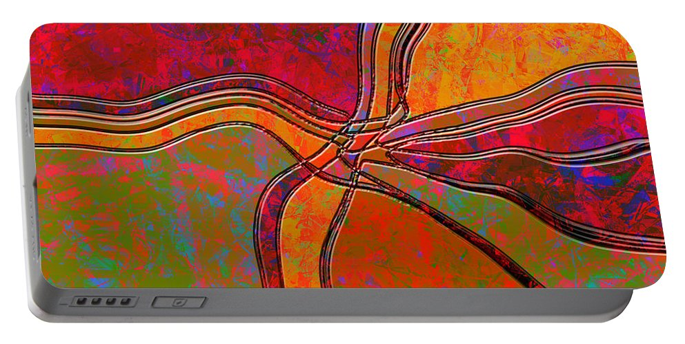 Abstract Portable Battery Charger featuring the digital art 0683 Abstract Thought by Chowdary V Arikatla