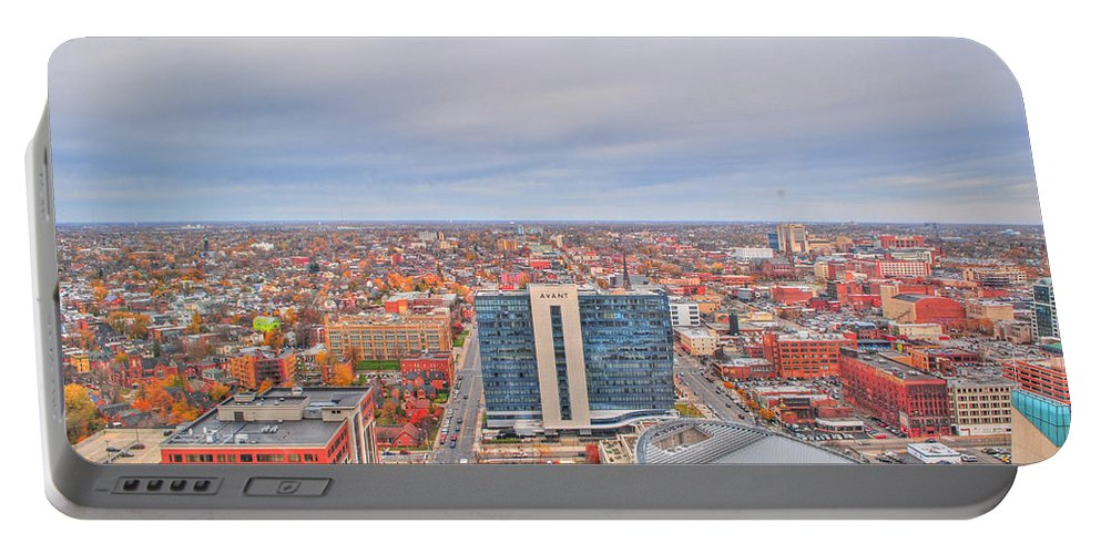 Portable Battery Charger featuring the photograph 07 Series Of Buffalo Ny Via Birds Eye by Michael Frank Jr
