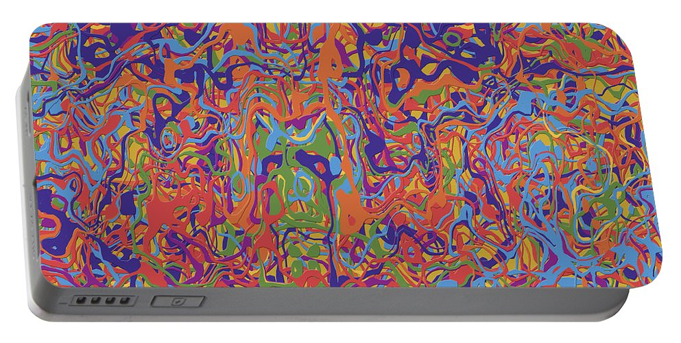 Abstract Portable Battery Charger featuring the digital art 0707 Abstract Thought by Chowdary V Arikatla