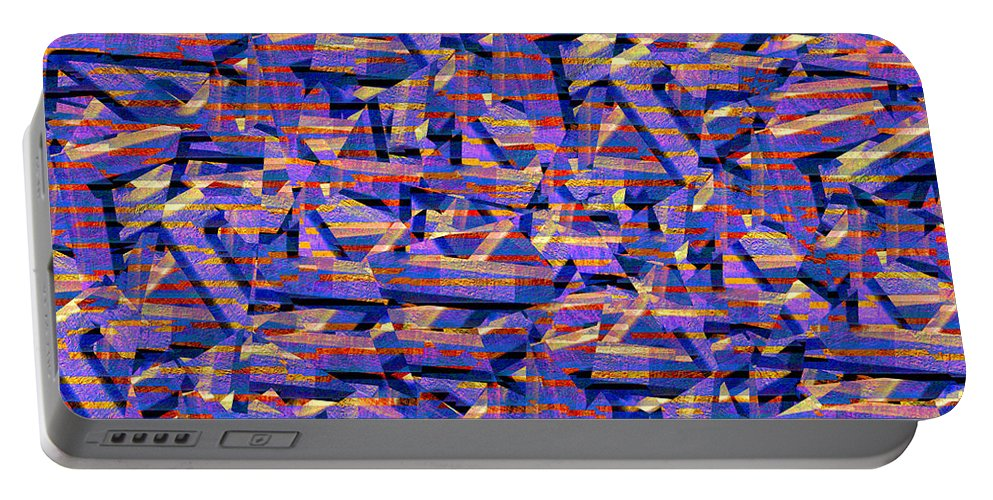 Abstract Portable Battery Charger featuring the digital art 0724 Abstract Thought by Chowdary V Arikatla