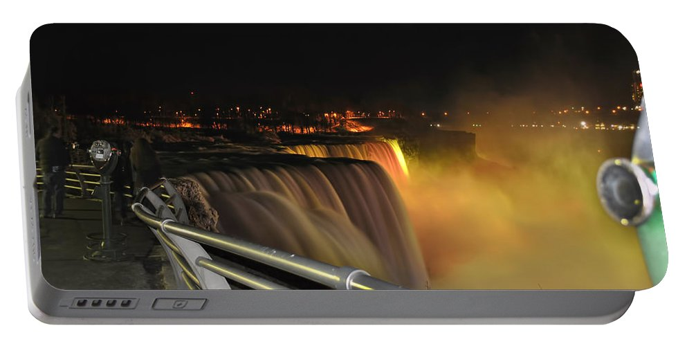 Portable Battery Charger featuring the photograph 08 Niagara Falls Usa Series by Michael Frank Jr