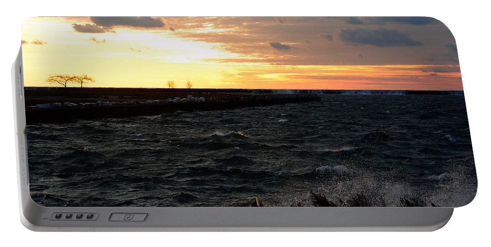 Portable Battery Charger featuring the photograph 08 Sunset by Michael Frank Jr