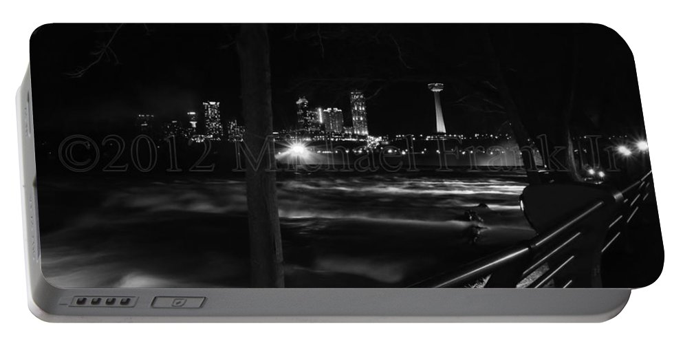 Portable Battery Charger featuring the photograph 09 Niagara Falls Usa Rapids Series by Michael Frank Jr