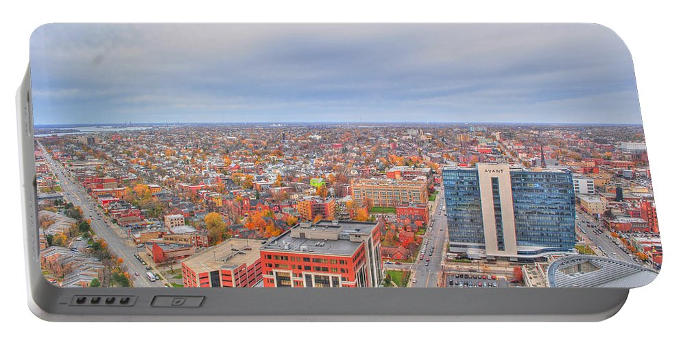 Portable Battery Charger featuring the photograph 09 Series Of Buffalo Ny Via Birds Eye by Michael Frank Jr