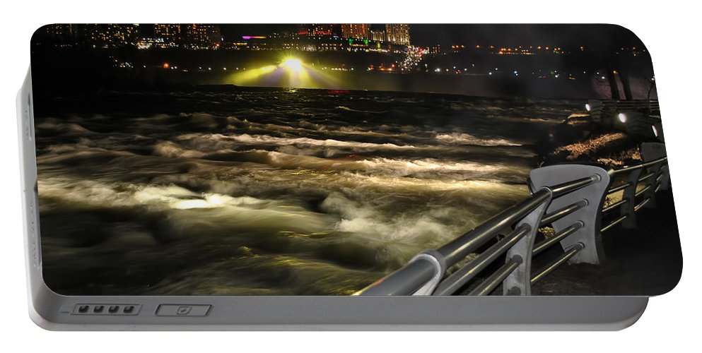Portable Battery Charger featuring the photograph 012 Niagara Falls Usa Rapids Series by Michael Frank Jr
