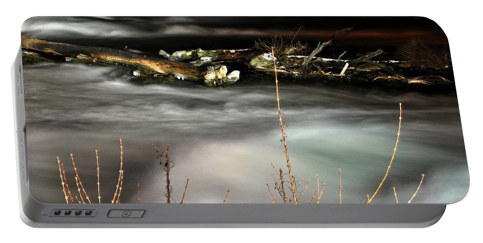 Portable Battery Charger featuring the photograph 05 Niagara Falls Usa Rapids Series by Michael Frank Jr