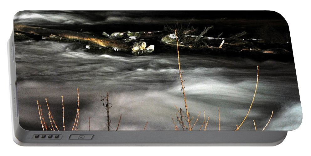 Portable Battery Charger featuring the photograph 06 Niagara Falls Usa Rapids Series by Michael Frank Jr