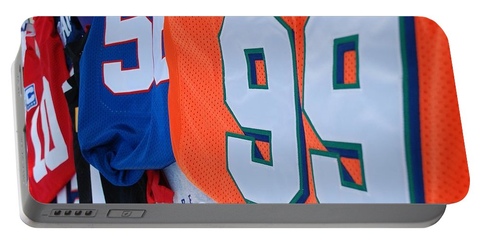 New York Giants Portable Battery Charger featuring the photograph 10 56 99 by Rob Hans