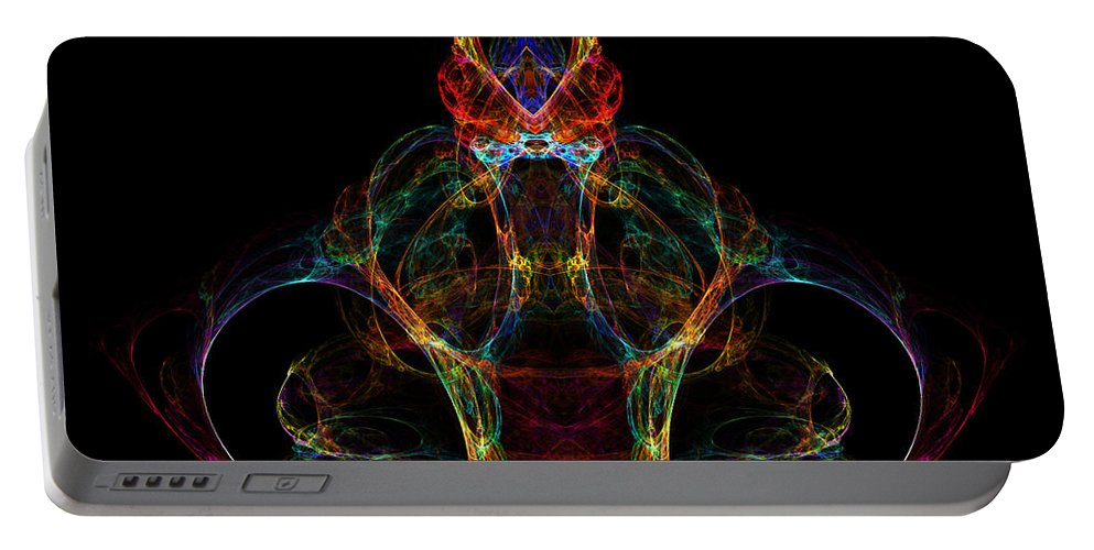 Fractal Digital Art Portable Battery Charger featuring the photograph Abstract 162 by Mike Nellums