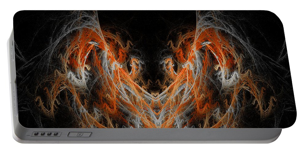Fractal Digital Art Portable Battery Charger featuring the photograph Abstract 171 by Mike Nellums