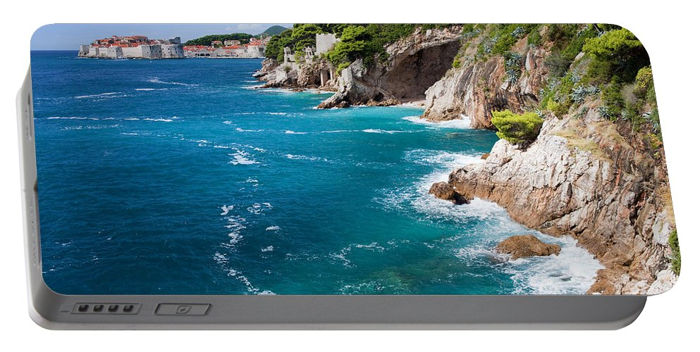 Nature Portable Battery Charger featuring the photograph Adriatic Sea Coastline by Artur Bogacki