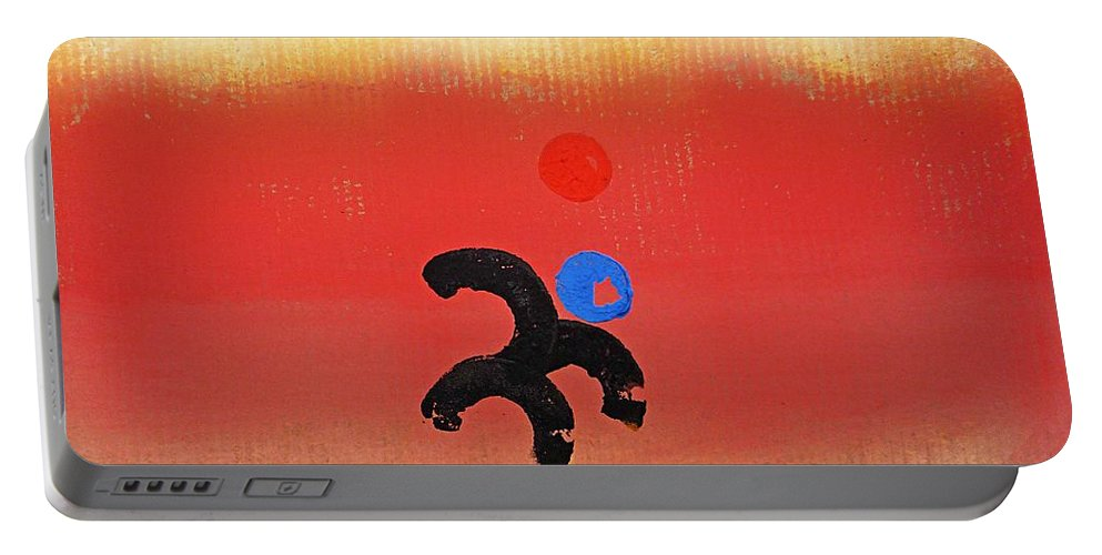 Africa Portable Battery Charger featuring the painting African Figure by Charles Stuart