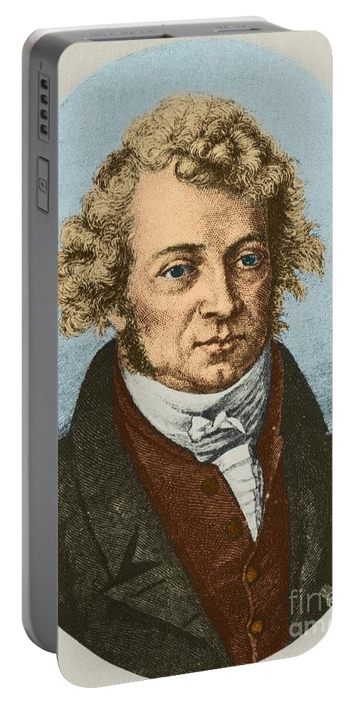 Science Portable Battery Charger featuring the photograph Andre Marie Amp�re, French Physicist by Science Source