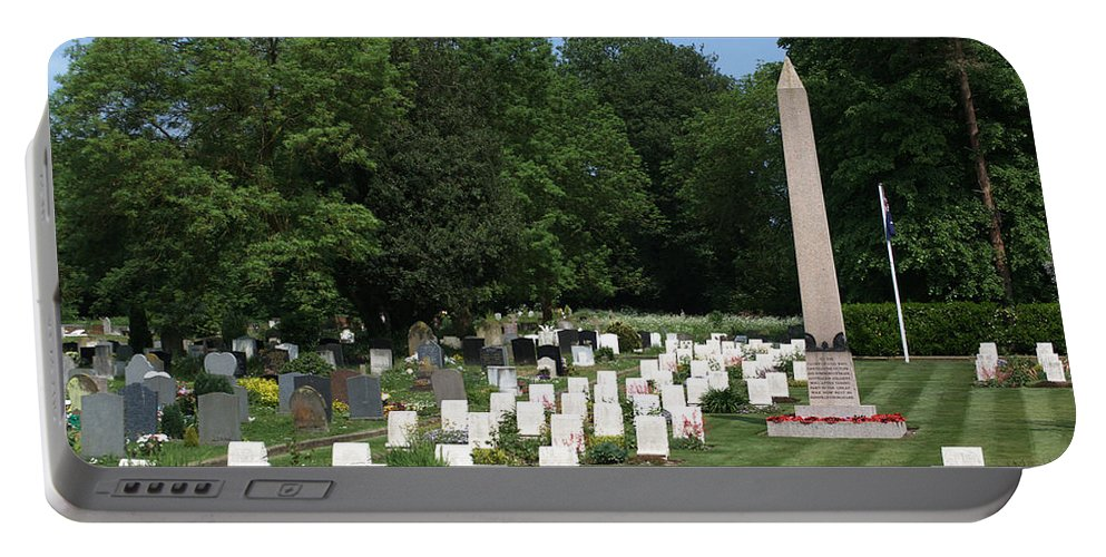 Anzac Cemetery Portable Battery Charger featuring the photograph Anzac Cemetery In Harefield Churchyard by Chris Day