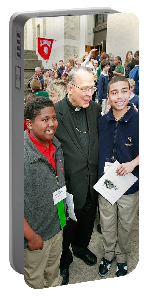 Archbishop Brunett Portable Battery Charger featuring the photograph Archbishop Brunett by Mike Penney