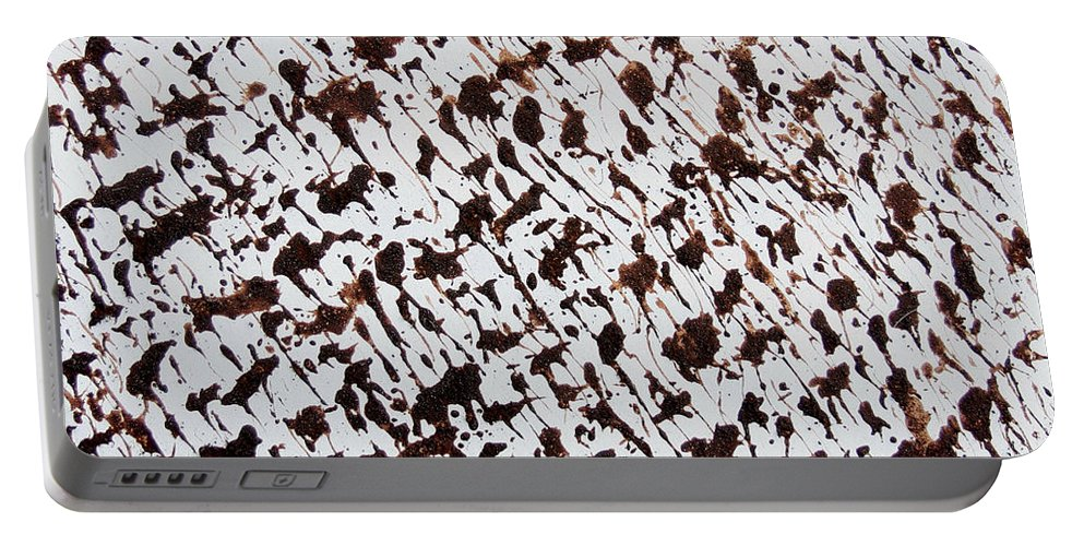 Abstract Portable Battery Charger featuring the painting Aspen Mocha Latte by TB Schenck