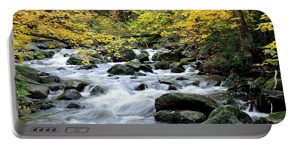 Autumn Portable Battery Charger featuring the photograph Autumn Stream 3 by Mike Nellums